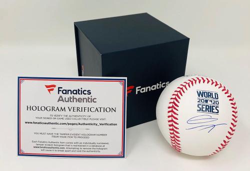 GAVIN LUX Autographed Los Angeles Dodgers 2020 World Series Baseball FANATICS
