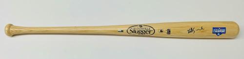 WILL SMITH Autographed Los Angeles Dodgers 2020 MLB World Series Louisville Slugger Champions Logo Bat FANATICS