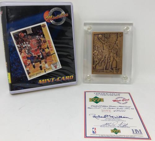 MICHAEL JORDAN 1991-92 Chicago Bulls Bronze Mint Card UD LE