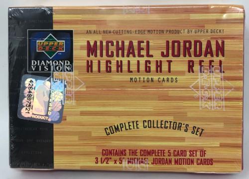 MICHAEL JORDAN Factory Sealed Highlight Reel Motion Cards Collectors Set UD