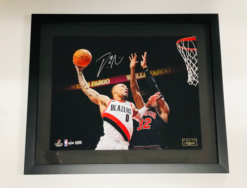 "DAMIAN LILLARD Signed Portland Trailblazers Framed ""Lift Off"" 16 x 20 Photograph PANINI"
