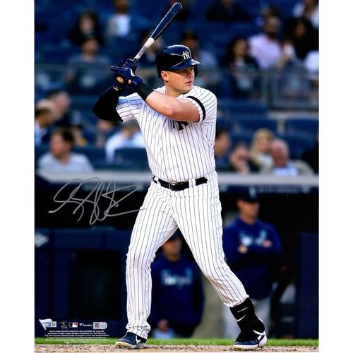 "LUKE VOIT Autographed New York Yankees Hitting 16"" x 20"" Photograph FANATICS"