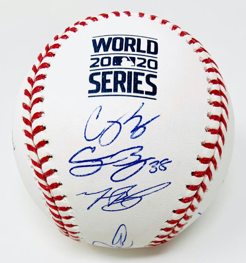 LOS ANGELES DODGERS 2020 MLB World Series Champions Team Autographed 2020 World Series Logo Baseball Limited Edition of 220 FANATICS