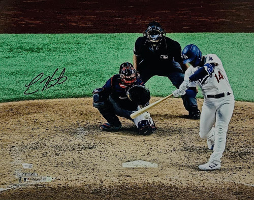 "ENRIQUE HERNANDEZ Autographed Los Angeles Dodgers 2020 NLCS Game 7 Game Tying Home Run 16"" x 20"" Photograph FANATICS"