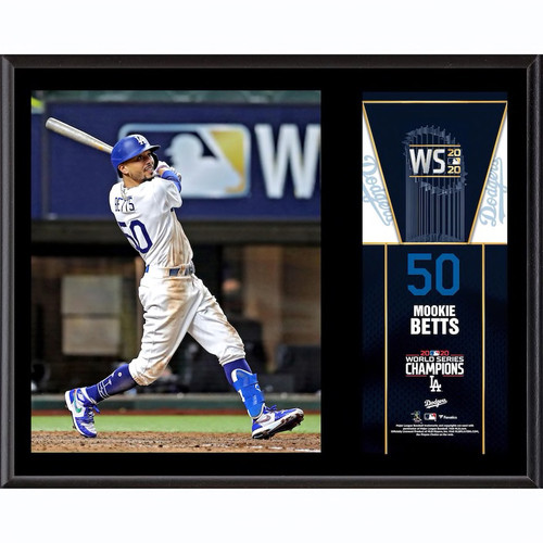"MOOKIE BETTS Los Angeles Dodgers 2020 MLB World Series Champions 12"" x 15"" Sublimated Plaque FANATICS"