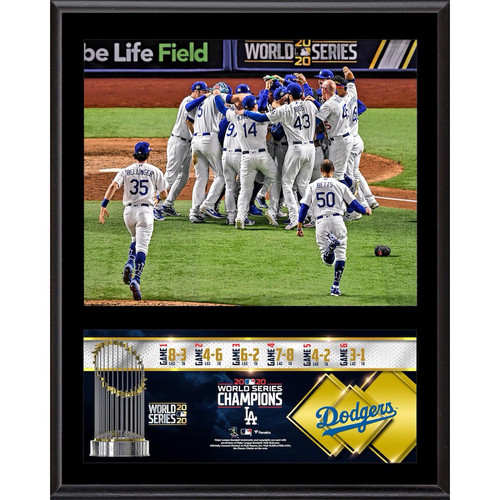 "LOS ANGELES DODGERS 2020 MLB World Series Champions 12"" x 15"" Sublimated Plaque FANATICS"