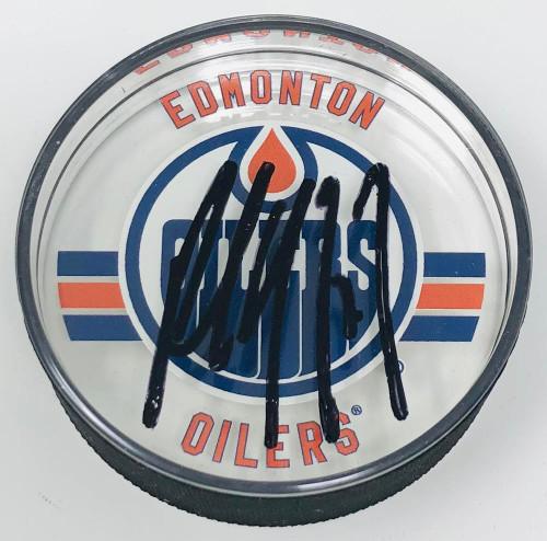 PAUL COFFEY Autographed Edmonton Oilers Acrylic Puck UDA