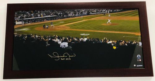 "MARIANO RIVERA Autographed ""HOF 2019"" 16"" x 32"" Framed Photograph STEINER"
