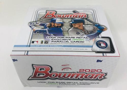 2020 BOWMAN BASEBALL Retail Box (24 Packs/12 Cards) - JASSON DOMINGUEZ