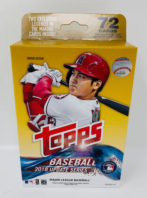 2018 Topps Update Series Baseball Factory Sealed Hanger Box 72 Cards