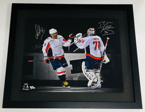 "ALEXANDER OVECHKIN / BRADEN HOLTBY Autographed 16"" x 20"" Photo FANATICS LE 88"