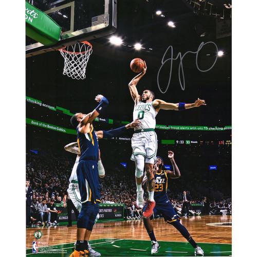 "JAYSON TATUM Autographed Boston Celtics ""Dunk VS. Jazz"" 16"" x 20"" Photograph FANATICS"