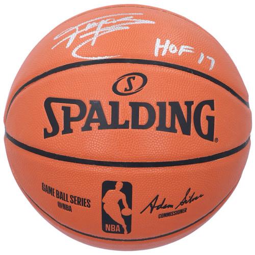 "TRACY McGRADY Autographed ""HOF 17"" Magic Spalding Basketball FANATICS"