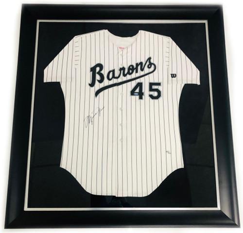 MICHAEL JORDAN Autographed Birmingham Barons #45 Baseball Jersey UDA LE 45/250