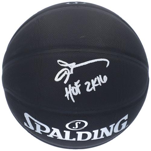 "ALLEN IVERSON Autographed ""HOF 2K16"" Philadelphia 76ers Black Basketball FANATICS"