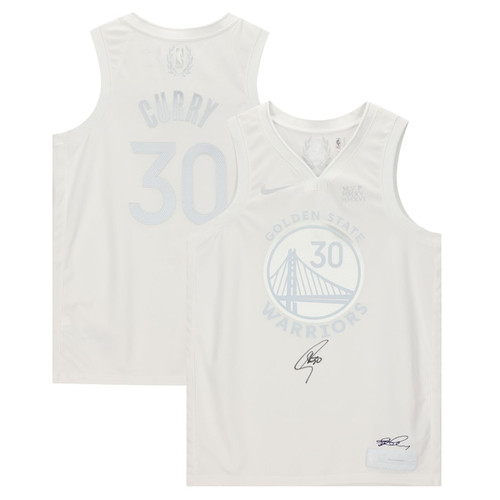 STEPHEN CURRY Autographed Golden State Warriors MVP White Nike Jersey FANATICS
