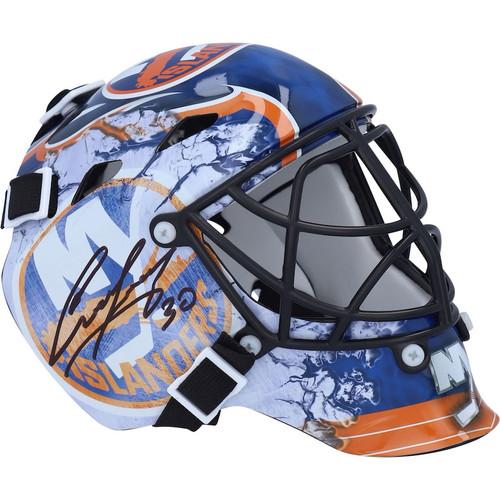 ILYA SOROKIN Autographed New York Islanders Mini Goalie Mask FANATICS