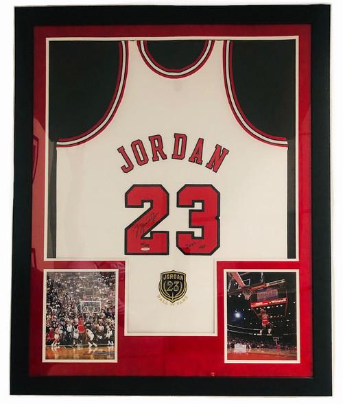 """MICHAEL JORDAN Autographed Chicago Bulls """"2009 HOF"""" Authentic White Jersey UDA LE 68/123"""