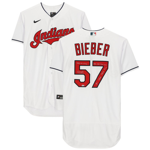 "SHANE BIEBER Autographed ""Cy Young"" Cleveland Indians Nike Authentic Jersey FANATICS LE 20"