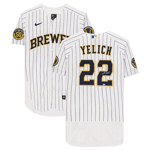 CHRISTIAN YELICH Autographed Milwaukee Brewers Authentic Nike White Jersey FANATICS