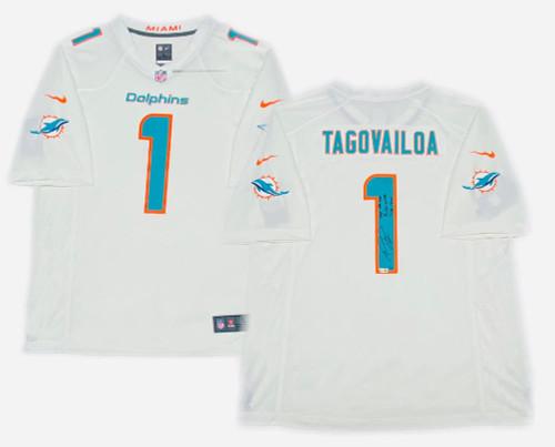 "TUA TAGOVAILOA Autographed and Inscribed ""Stat"" Miami Dolphins Nike Game Jersey FANATICS LE 10"