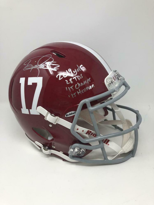 DERRICK HENRY Autographed Alabama Authentic Speed Stat Helmet FANATICS LE 24