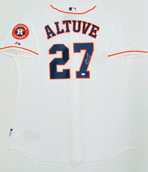 "JOSE ALTUVE Autographed ""2014 AL BC"" Authentic Houston Astros Jersey MLB"