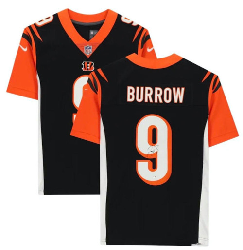 JOE BURROW Autographed Cincinnati Bengals Nike Black Limited Jersey FANATICS