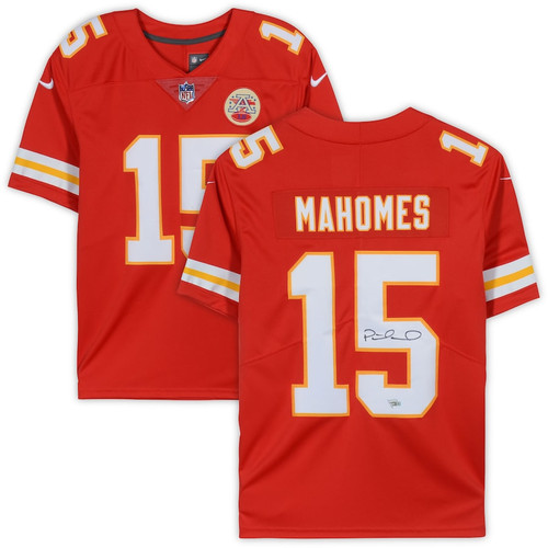PATRICK MAHOMES Autographed Kansas City Chiefs Red Nike Limited Jersey FANATICS