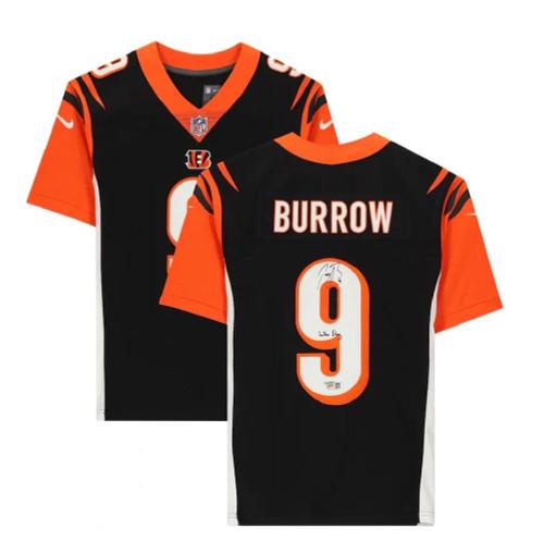 "JOE BURROW Autographed ""Who Dey"" Bengals Nike Limited Jersey FANATICS"