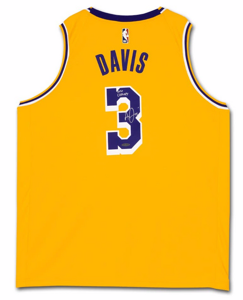 "ANTHONY DAVIS Autographed ""2020 Champs"" Los Angeles Lakers Nike Jersey UDA"