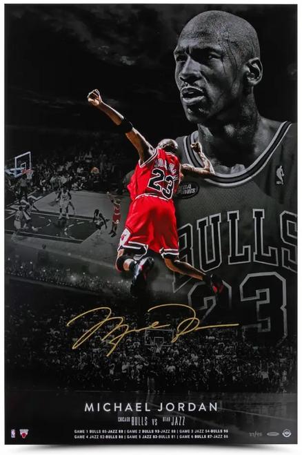 """MICHAEL JORDAN Autographed Chicago Bulls """"Poster 1998"""" 24"""" x 36"""" Photograph UDA LE 98"""