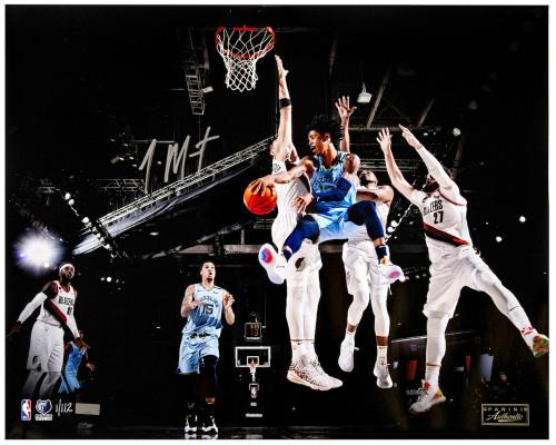 """JA MORANT Autographed Memphis Grizzlies """"Wraparound"""" 16"""" x 20"""" Photograph PANINI LE 112"""