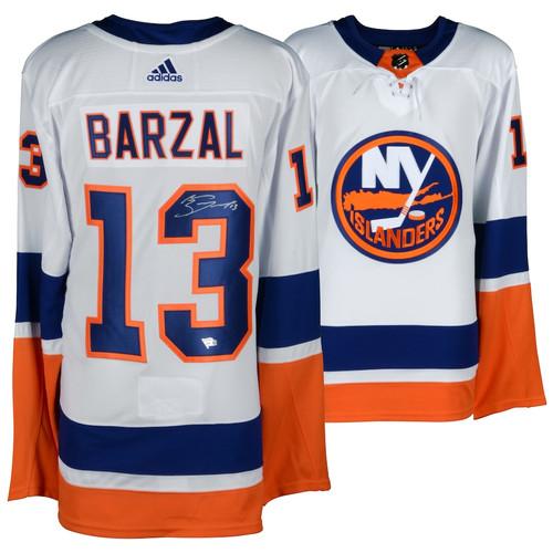 MATHEW BARZAL Autographed NY Islanders Adidas Authentic White Jersey FANATICS