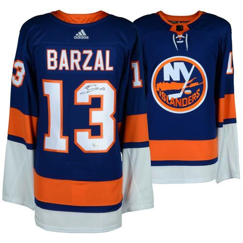 MATHEW BARZAL Autographed NY Islanders Adidas Authentic Blue Jersey FANATICS