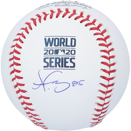 DUSTIN MAY Autographed Los Angeles Dodgers 2020 World Series Logo Baseball FANATICS