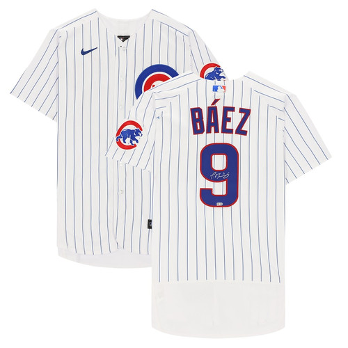 JAVIER BAEZ Autographed Chicago Cubs White Nike Authentic Jersey FANATICS