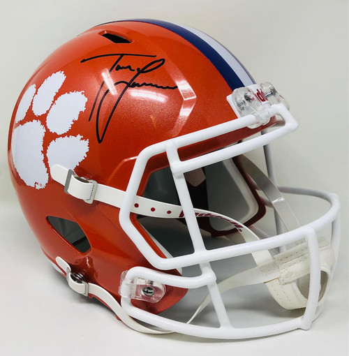 TREVOR LAWRENCE Autographed Clemson Tigers Full Size Speed Helmet FANATICS