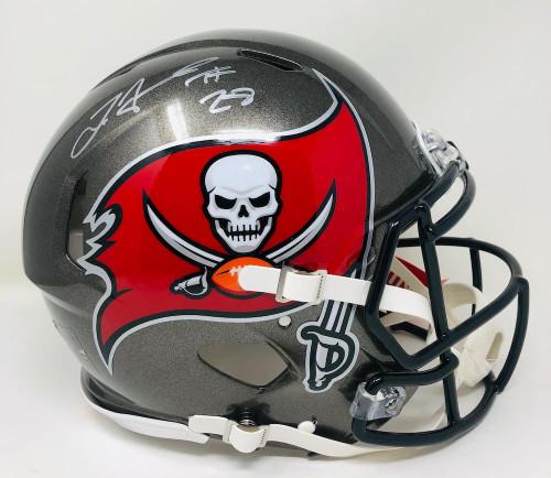 LEONARD FOURNETTE Autographed Tampa Bay Buccaneers / Champs Logo Authentic Helmet FANATICS