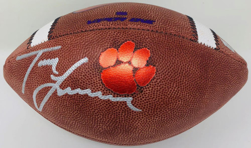 TREVOR LAWRENCE Autographed Clemson Tigers Official Nike Game Football FANATICS