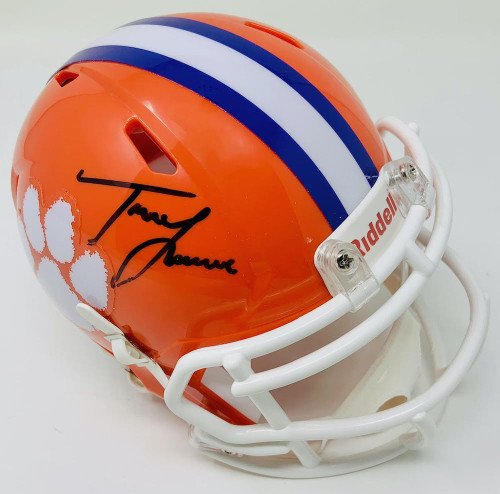 TREVOR LAWRENCE Autographed Clemson Tigers Riddell Speed Mini Helmet FANATICS