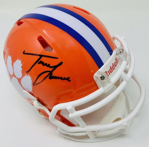 TREVOR LAWRENCE Autographed Clemson Tigers Riddell Speed Mini Helmet FANATICS
