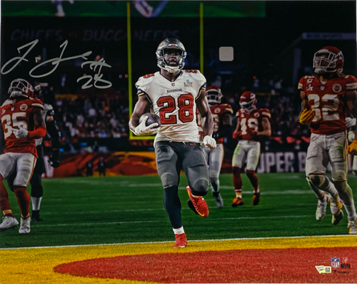 "LEONARD FOURNETTE Autographed Tampa Bay Buccaneers 16"" x 20"" Super Bowl LV Photograph FANATICS"
