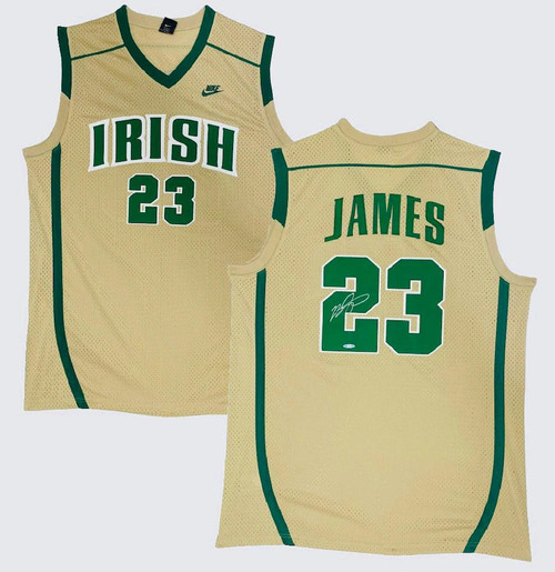 LEBRON JAMES Autographed St. Vincent-St. Mary Authentic High School Jersey UDA