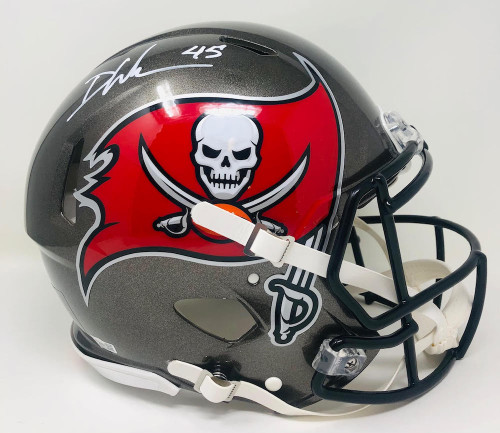 DEVIN WHITE Autographed Bucs / Champs Logo Authentic Helmet FANATICS