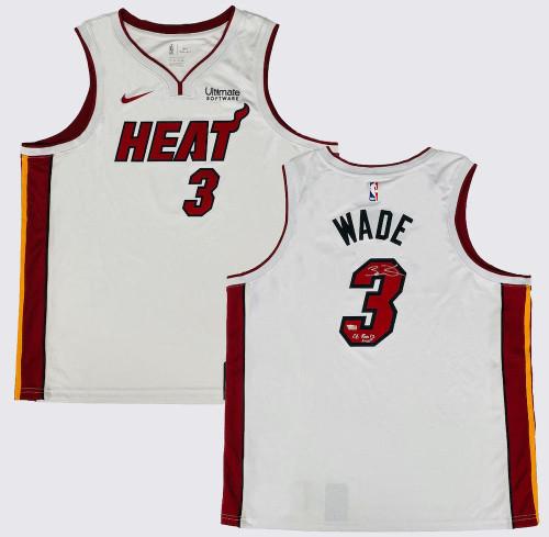 "DWYANE WADE Autographed ""06 Finals MVP"" Miami Heat White Nike Jersey FANATICS"