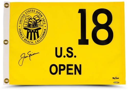 JACK NICKLAUS Autographed 1972 US Open Authentic Flag UDA LE 100