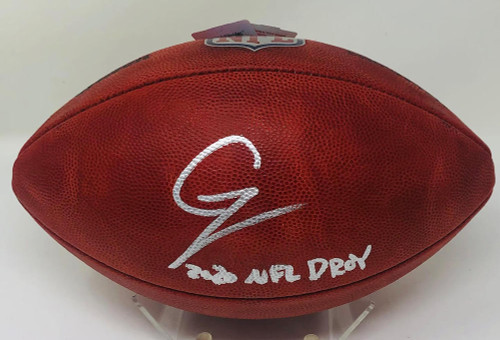 "CHASE YOUNG Autographed ""2020 NFL DPOY"" Official Duke NFL Football FANATICS"