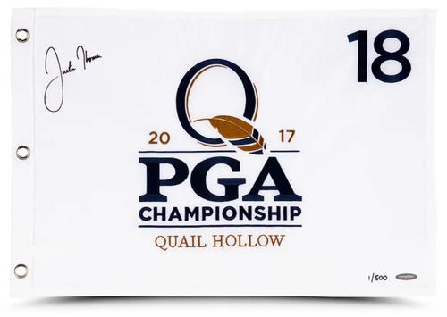 JUSTIN THOMAS Autographed 2017 PGA Championship Authentic Flag UDA LE 500