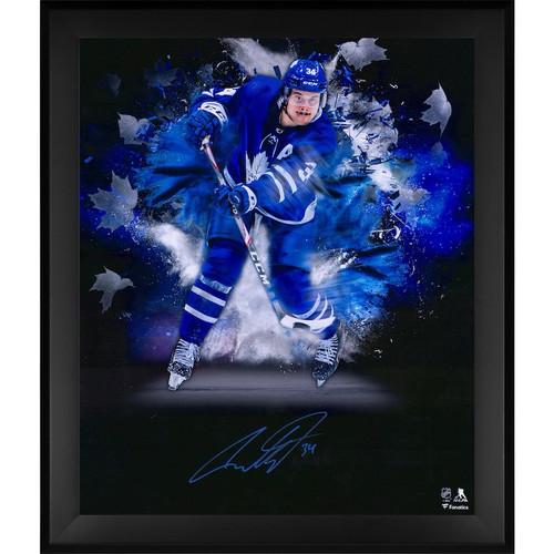 "AUSTON MATTHEWS Autographed Toronto Maple Leafs ""In Focus"" 20 x 24 Photograph FANATICS"